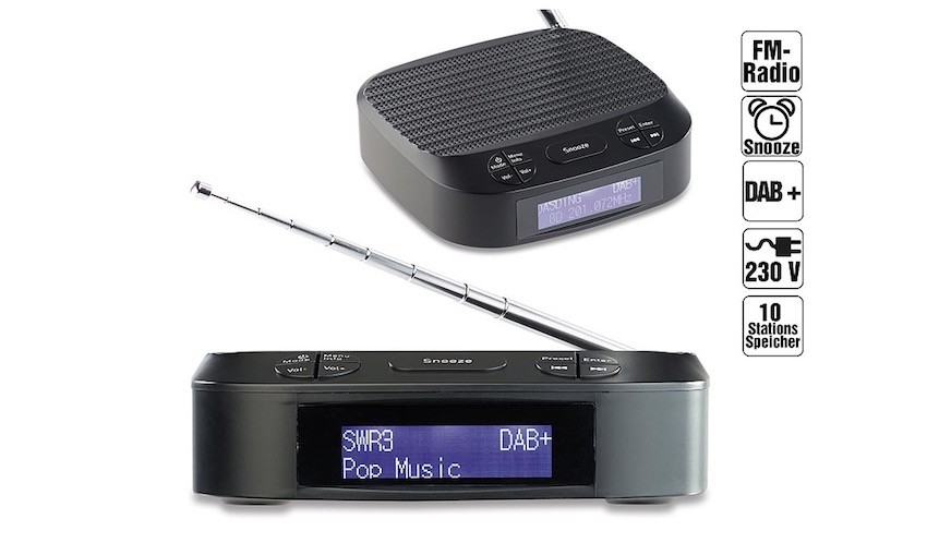 pearl vr radio digitaler radiowecker mit dab ukw empfang lite das lifestyle technik magazin. Black Bedroom Furniture Sets. Home Design Ideas