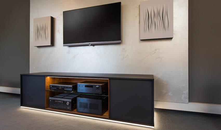 Perfekte Raumabstimmung: Akustik- und Medien-Möbel vom HiFi Forum