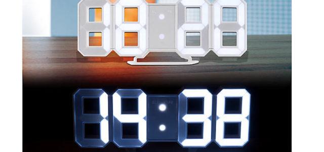 Pearl Lunartec Große Digital-LED-Tisch- & Wanduhr