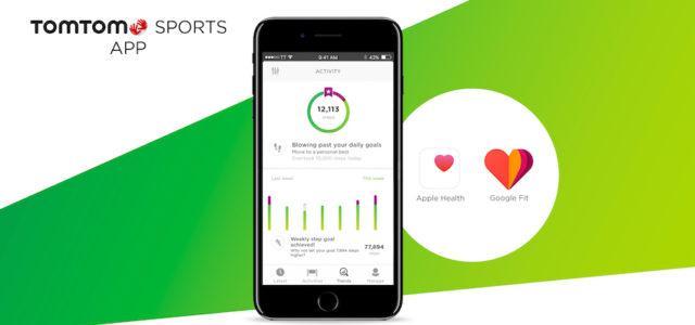 TomTom Sports-App ab sofort synchronisierbar mit Google Fit und Apple Health
