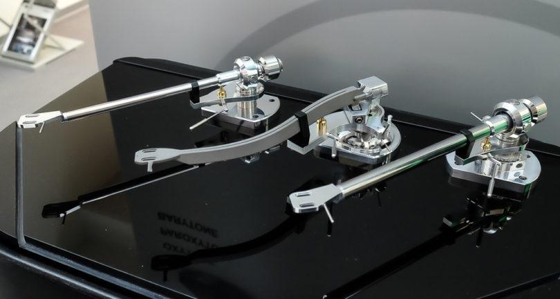Avid präsentierte die erste selbstentwickelte Tonarm-Reihe, die ab September erhältlich sein sollen. Das mittlere Titan-Tonarmrohr entsteht im  3D-Drucker.