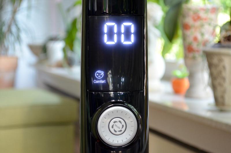 Das Display zeigt mit großzügiger Anzeige und diversen Icons den aktuellen Betriebszustand an.