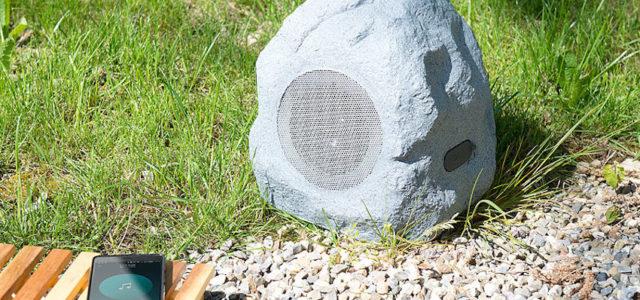 Pearl auvisio Garten- und Outdoor-Lautsprecher im Stein-Design