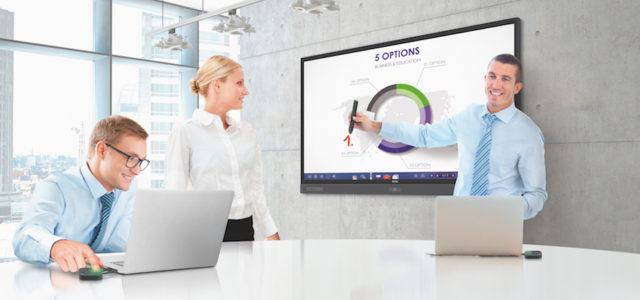 4K UHD Multi-Touch-Displays mit Soundbar von BenQ
