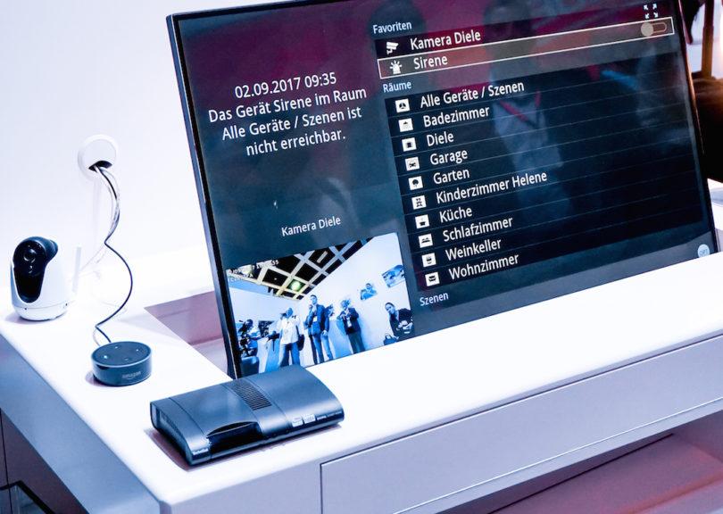 TechniSat macht den Fernseher zur Smart-Home-Zentrale: Der Digipal Smart Home-Receiver empfängt HD-Fernsehen über integriertes freenet TV und agiert zugleich als system- und herstellerübergreifende Steuerzentrale für alle Funktionen im smarten Zuhause (Preis: 199,99 Euro).