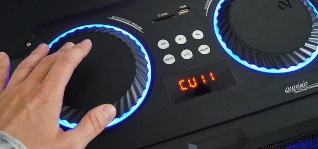 Stereo-Karaoke-Anlage auvisio ZX-1672: In Sachen Spaßfaktor ganz vorne dabei