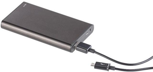 Pearl OctaCam 2in1-Powerbank mit Full-HD-Kamera und Nachtsicht