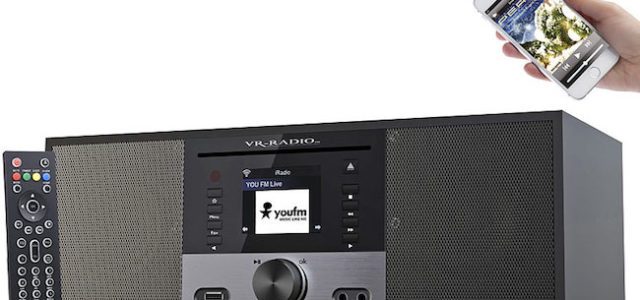 Pearl VR-Radio Stereo-Internetradio m. CD-Player, DAB+/FM