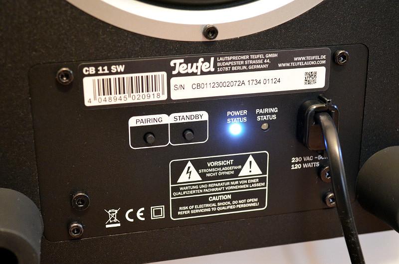 Der Aktiv-Subwoofer wird per Tastendruck drahtlos mit der Soundbar gekoppelt.