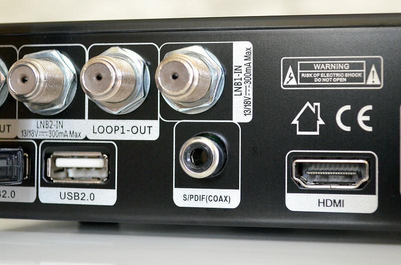 Falls der TV-Ton ausgelagert werden muss, kommt der Koaxial-Anschluss gerade recht.