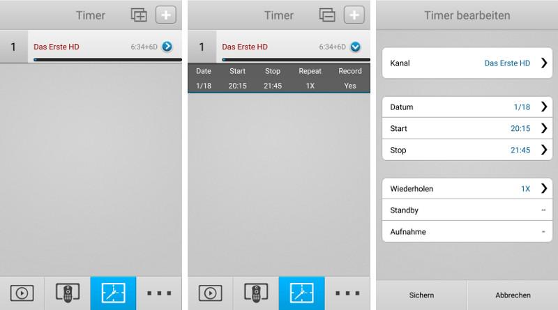 Über die App können auch Aufzeichnungen programmiert werden.