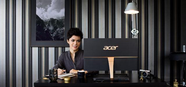Produktives Designelement: Der ultraflache All-in-One-PC Aspire S24 von Acer