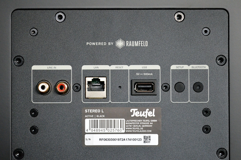 Die Stereo L bevorzugen zwar drahtlose Quellen, bieten aber auch kabelgebundenen Zuspielern ausreichend Anschlussoptionen.