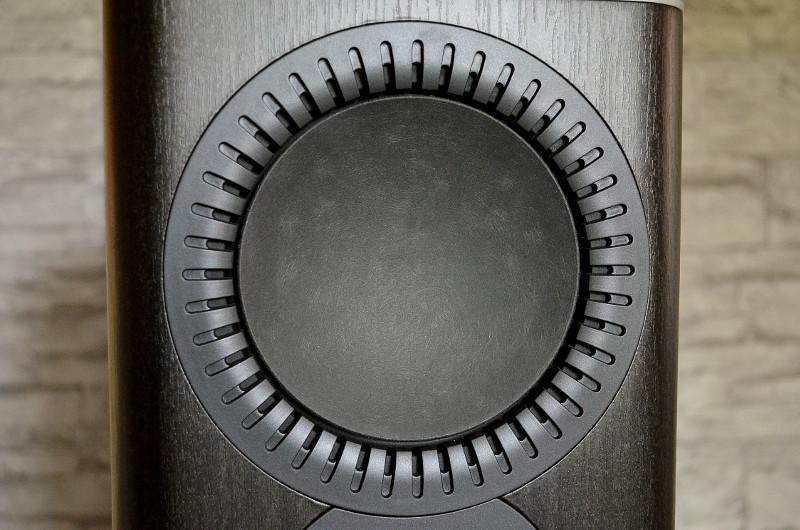Die Einfassung des Mitteltieftöners sorgt mit moderner Rippenstruktur für reduzierte Störgeräusche - und sieht nebenbei ziemlich gut aus.