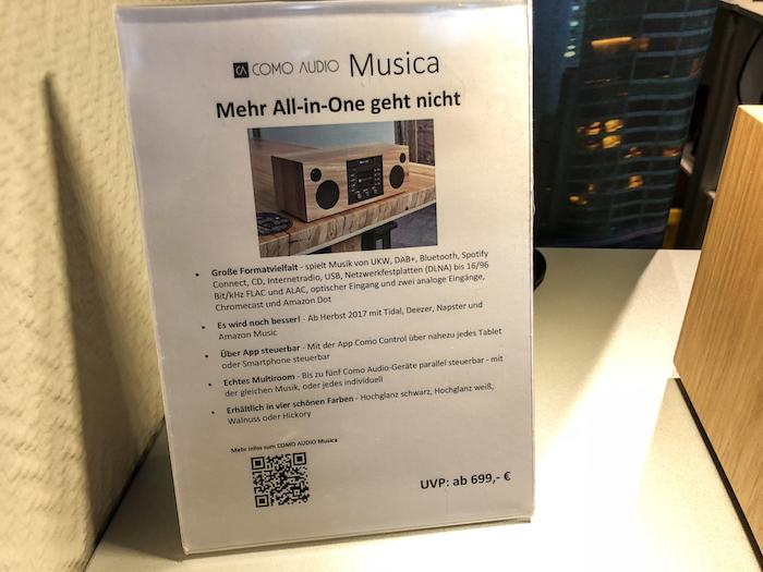 Neben HiRes-Wiedergabe (bis 96 kHz) ist das Musica auch in der Lage Daten via Spotify, Tidal, Deezer, Napster und/oder Amazon Music zu empfangen. Dass sich das Musica zudem in einMultiroom-Setup einbringen lässt, scheint schon fast selbstverständlich.