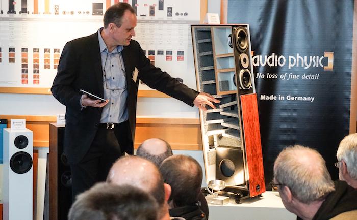Auf den Norddeutschen Hifi-Tagen in Hamburg präsentierte Audio Physic den Lautsprecher-Prototypen Codex Structure: Das Besondere an diesem High-End-Lautsprecher: sein komplexer Mehrkammer-Aufbau sowie der integrierte Subwoofer (Preis: ab 24.990 Euro).