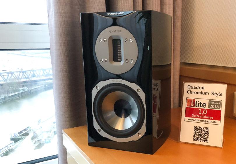Kürzlich noch bei uns im Test, diesmal in Hamburg ausgestellt: die Quadral Chromium Style 2. Preis: ca. 900 Euro/Paar.