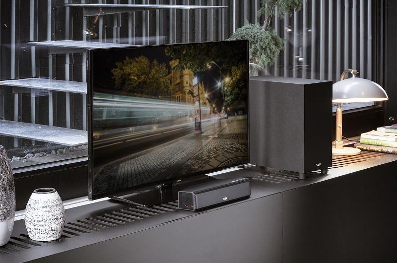 Selbst bei minimalem Platzangebot kann Heimkino-Atmosphäre erlebt werden - wie die Teufel Cinebar One+ beweist.
