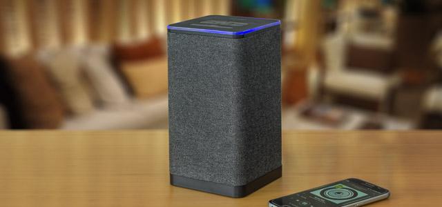 auvisio WLAN-Multiroom-Stereo-Lautsprecher QAS-400 mit Amazon Alexa und Akku