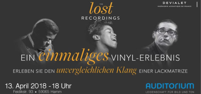 THE lost RECORDINGS: DEVIALET und AUDITORIUM präsentieren verloren geglaubte Jazz-Schätze