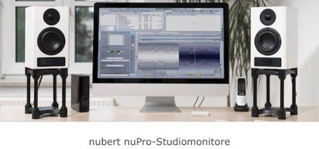 Nubert startet neue Website für die aktiven Studiomonitore der nuPro-Serie auf nuprofi.de