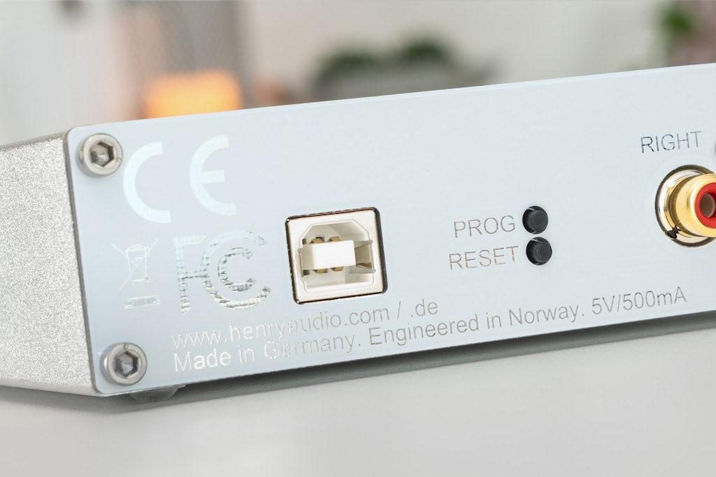 Am USB-B-Eingang beginnt die Arbeit des Henry-Audio-Wandlers.