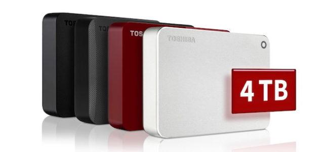 Toshiba präsentiert portable CANVIO Festplatten mit 4TB für die sichere Datenspeicherung