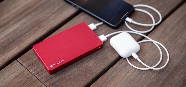 Die neue mophie powerstation Lightning 5K mit zwei USB-A-Ports für multiples Aufladen