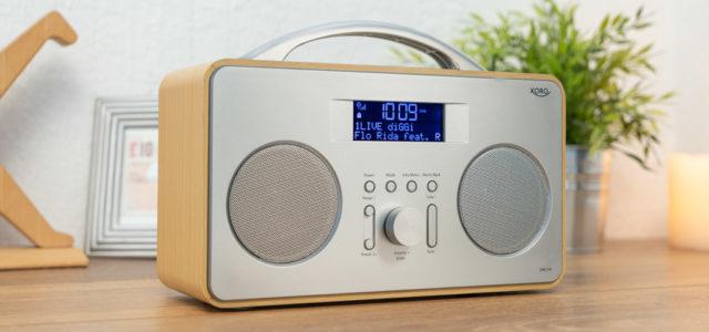 Xoro DAB 240 flexibles DAB+/FM-Radio im Retro-Design fürs einfache Musikhören