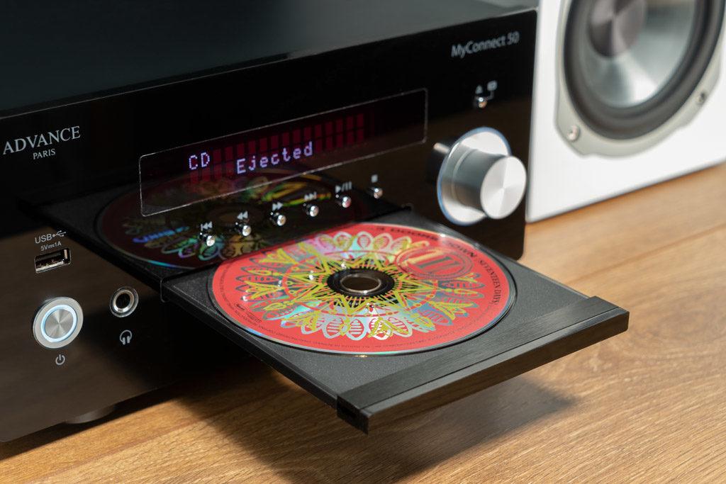 Mehr als nur ein Verstärker: Der MyConnect 50 hat unter anderem auch ein CD-Laufwerk an Bord.