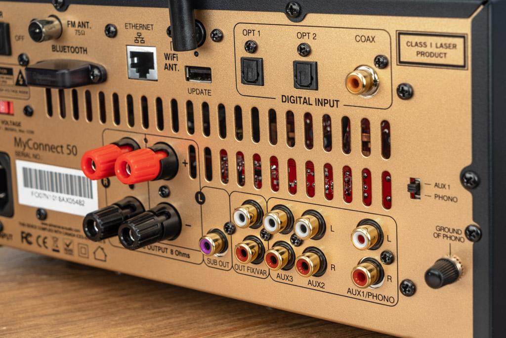 Analog wie digital empfängt der MyConnect 50 auf mehreren Wegen Signale.