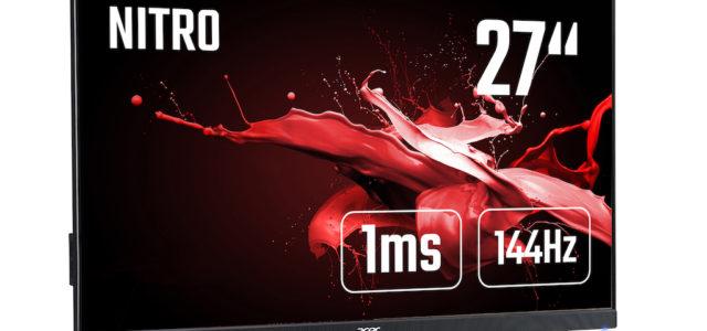 Acer Predator XB3 und Nitro XV-Monitore sowie Nitro Gadgets ab sofort im Handel verfügbar