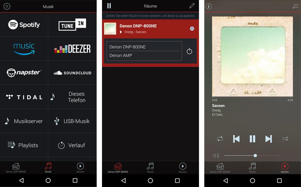 Der Netzwerk-Player der 800NE-Serie ist auch multiroom-fähig und daher per Smartphone-App steuerbar.
