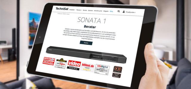 TechniSat startet Online-Berater für UHD-Receiver Sonata 1