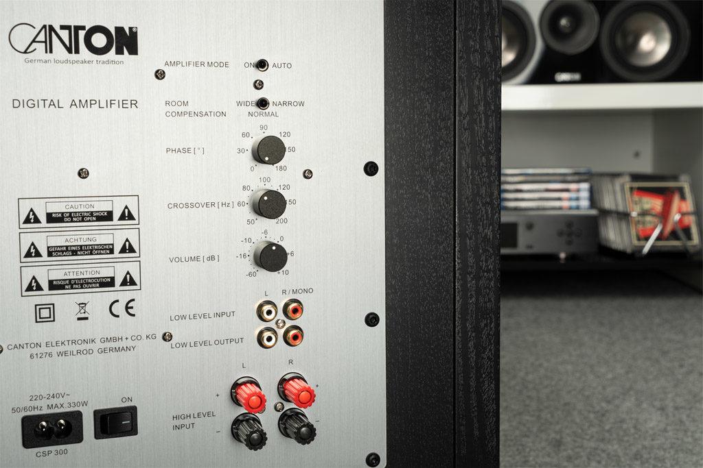 Der Sub 12.4 lässt sich flexibel positionieren und bietet diverse Anschlussmöglichkeiten.