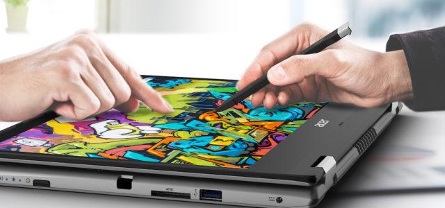 Acer legt das Spin 3 aus seiner stylischen Convertible-Notebook-Serie neu auf