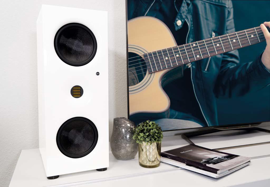 Wie alle Saxx-Lautsprecher zeigt sich auch der CLX 4 in modernem Design wie aus einem Guss.