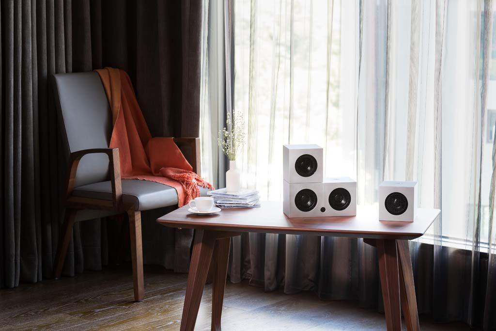 Die Soundgil Cubes sind flexibel einsetzbar und benötigen nicht viel Stellfläche.