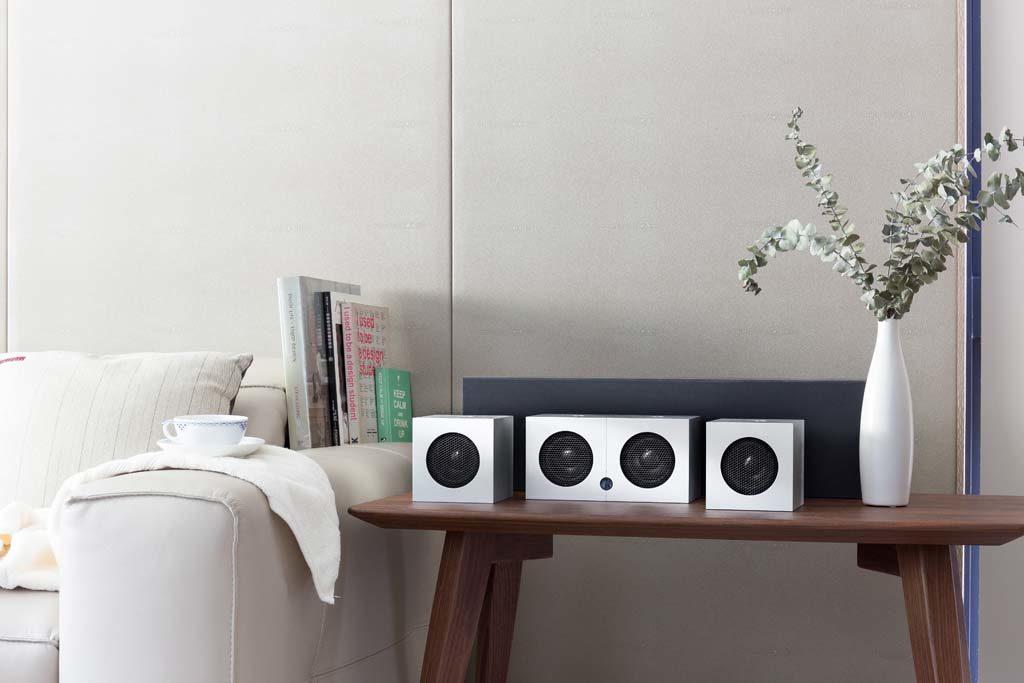 Die kompakten Soundgil Cubes überzeugen mit elegant-minimalistischem Design.