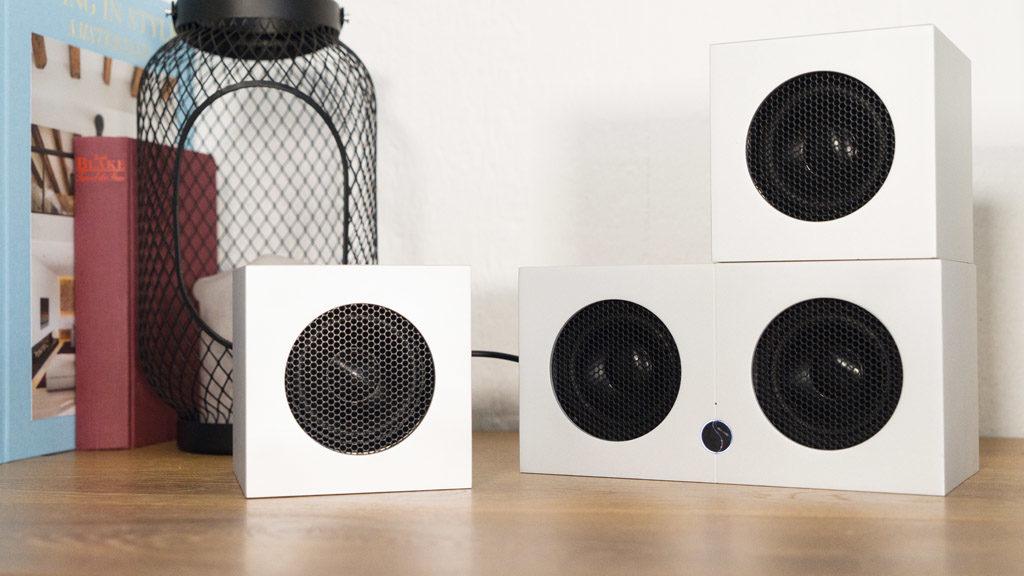 Überflüssige Schnörkel gibt es bei den Soundgil Cubes nicht.