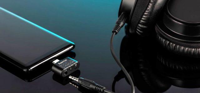 Hama USB-C-Adapter: Klinken-Kopfhörer an USB-C-Smartphone