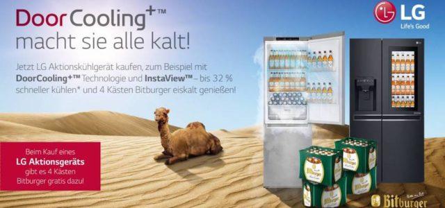 LG und Bitburger sorgen für gekühlte Durstlöscher in diesem Sommer