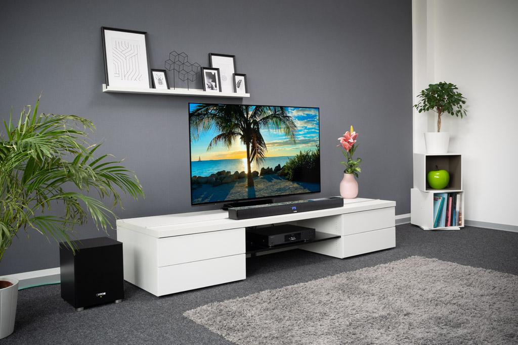 Die Smart Soundbar 10 von Canton mit Dolby-Atmos-Unterstützung ist viel mehr als nur ein TV-Lautsprecher.
