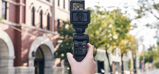 Sony Aufnahmegriff GP-VPT2BT mit integrierter Bluetooth-Fernbedienung