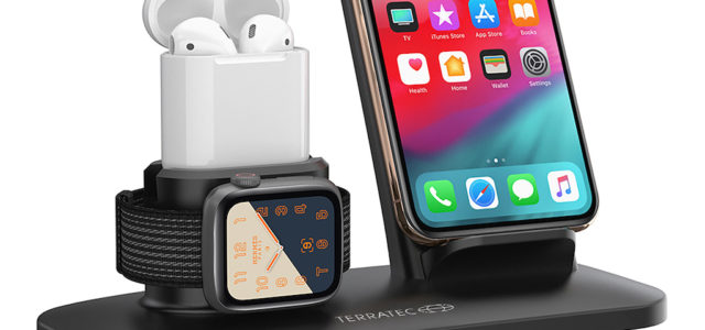 """Ordnung ist das halbe Laden – Terratec """"ChargeAIR All Desk"""": Kabellose Energieversorgung von Smartphone, Smartwatch und Kopfhörern"""