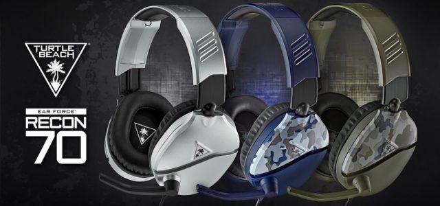 Das bestverkaufte Turtle Beach Headset Recon 70 jetzt auch in Silber, Camogrün und Camoblau
