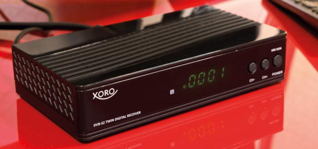 Xoro HRS 9194: Sat-Receiver mit Twin-Tuner und Media-Player im Mini-Format