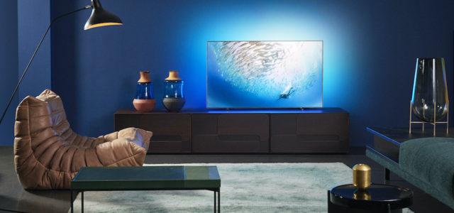 Philips 55OLED805 – Ultraschlanker OLED mit Referenzbild, Ambilight und Künstlicher Intelligenz