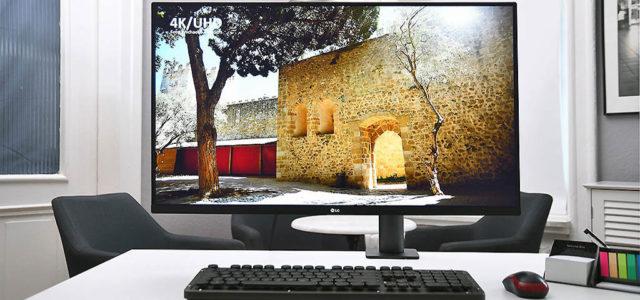 LG 32UN880 – 32-Zoll-Monitor mit 4K/UHD-Auflösung, platzsparend installiert