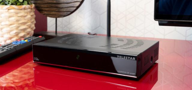 Telestar DigiNova 25 smart Komplettset – Kombinierter Kabel-, Sat- und DVB-T2-Receiver mit Sprachsteuerung